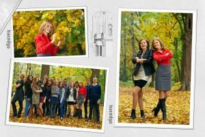 5 разворот выпускного школьного фотоальбома