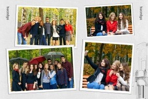 6 разворот выпускного школьного фотоальбома
