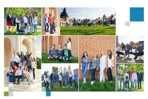 4 разворот выпускного школьного фотоальбома